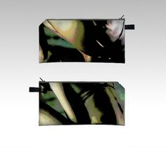 pencil case cosmetic bag clutch makeup bag by BohemianSilkScarves