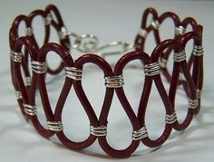 leather and wire bracelet