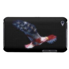 Fractal Bald Eagle Patriotic iPod Touch 4 Case iPod Case-Mate Case