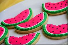 Watermelon sugar cookies. Perfect for summer : )