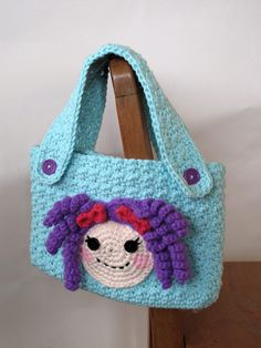 PATTERN Lalaloopsy Inspired Crochet Purse by TheEnchantedLadybug, $4.95