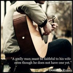 This goes for us as ladies as well. A Godly woman must be faithful to her husband... even though she doesn't have one yet!
