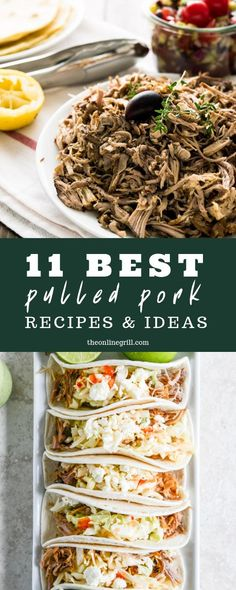 Bored of the usual sandwich recipe for your pulled pork? Here are some of the best ideas out there to get you excited for grill time again. #pulledpork #pork #recipes #grilling #bbq #tacos #burritos #enchiladas