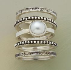 Pearly Girl Stack Rings.  Sundance.