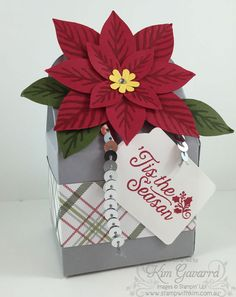 Stampin' Up! Bakers Box & Festive Flower Builder Punch.  Stamp With Kim Australia