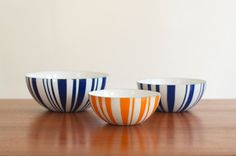 SALE Mid Century Cathrineholm Striped Enamelware by HouseofSeance, $255.00