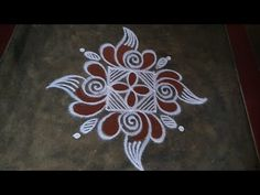 Rangoli Designs Latest, Simple Rangoli Designs Images, Rangoli Designs Flower, Rangoli Border Designs, Rangoli Ideas, Rangoli Designs Diwali, Rangoli Designs With Dots, Beautiful Rangoli Designs, Flower Embroidery Designs