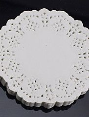 "6.5""+Lace+Round+100Pcs+Paper+Doilies+Cake+Placemat+Craft++Coasters+Wedding+Party+Christmas+Table+Decoration+Dia+16.5cm+–+USD+$+5.99"