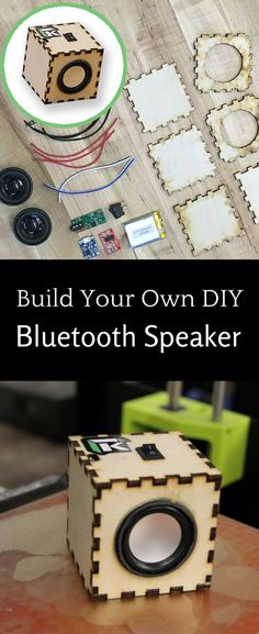 Create your own DIY Bluetooth Speaker with this fun electronic maker kit! Diy Bluetooth Speaker, Speaker Kits, Build Your Own, Create Your Own, Electronic Kits, Do It Yourself Kit, Electronics, Fun, Diy