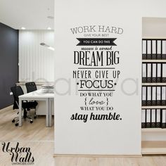 Do you use office decals at your company? #wordsofwisdom #inspiration #office