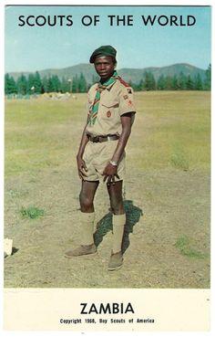 1968 Boy Scouts of the World Zambia Postcard by OakwoodView