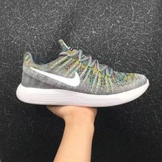 ca0cb775b0ef New And Cheap Unisex Nike LunarEpic Low Flyknit 2 2017 Summer Ash Gray Lime  Green For Sale