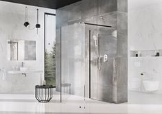 Ha zuhanyzás pártiak vagyunk, akkor is figyeljünk a hagyományostól eltérő megoldásokra. A RAVAK fürdőszoba fekete profilos Walk-in zuhanykabinjai exklúzív hatásúak, emellett pedig rendkívül praktikusak, mutatósak és kényelmesek is. 😍 Rave, Bathtub, Corner, Bathroom, Modern, Design, Luxury, Raves, Standing Bath