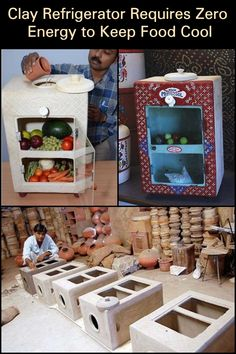 Clay refrigerator requires zero energy to keep food cool Homestead Survival, Camping Survival, Survival Prepping, Survival Skills, Urban Survival, Diy Craft Projects, Diy And Crafts, Projects To Try, Renewable Energy