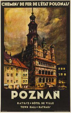 Stefan Norblin (1892 Warszawa - 1952 San Francisco) Poznań, 1930 r.  offset/papier, 99 x 62 cm  sygnowany p.d.: 'S.NORBLIN'