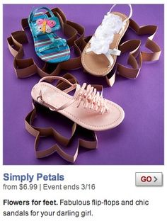 Quilling shapes for displaying children's sandals-by Zulily