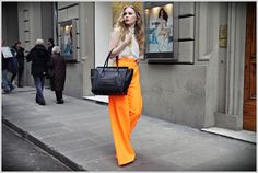 A shockingly bright trouser to brighten even the most dull sidewalk.