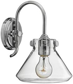 Congress Chrome with Clear Glass Hinkley Wall Sconce - #EU2X516 - Euro Style Lighting $154