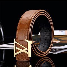 Men   s de cuero marcas cinturón cinturones cummerbund para hombres    mujeres hebilla de metal 259b9c9aad58