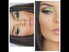 St Patty's Day Lime Green Eye Makeup - #stpattys #stpatricksday #greenshadow #greeneyemakeup #eyemakeup #eyeshadow #makeupbyevon