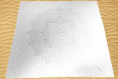 Wandkleed Lotus - Zilver/Wit - 220*200cm -