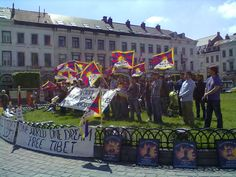 Free Tibet, Respect Human Rights they screamed in Brussels