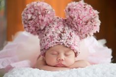 Baby Hat 0 to 3 Month Baby Girl Soft Chunky by TSBPhotoProps, $27.00