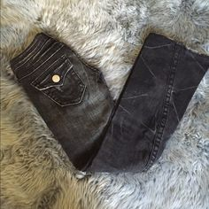 True Religion Jeans size 26 True Religion distressed black jeans size 26. Could be made into really cute cutoffs True Religion Jeans