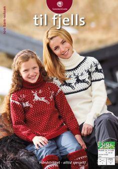 Modell - Til fjells 1011 Fair Isle Knitting, Knit Fashion, Crochet Clothes, Pattern Fashion, Christmas Sweaters, Knit Crochet, Knitting Patterns, Men Sweater, Graphic Sweatshirt