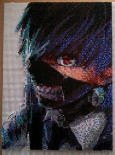 Ken Kaneki - Tokyo Ghoul hama beads by De-Lau