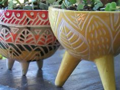 Slab Pottery, Ceramic Pottery, Ceramic Bowls, Ceramic Art, Wheel Thrown Pottery, Turkish Tiles, Pinch Pots, Sgraffito, Pottery Designs