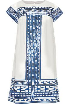 SEA Cutout embroidered cotton-voile mini dress | NET-A-PORTER