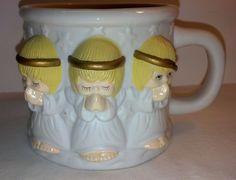 Hallmark Four Angels Coffee/Tea Mug/Cup-Raised Angels - 13 oz
