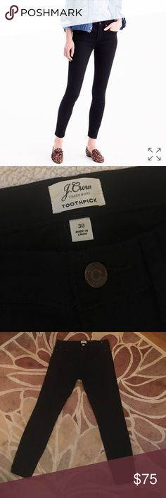 """J. CREW//black toothpick jeans 30 looks NWOT no flaws from fall 2016 collection 28"""" inseam 9"""" rise J. Crew Jeans Skinny"""