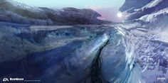 Mass Effect Andromeda - Ice planet exploration sketches by Ben Lo