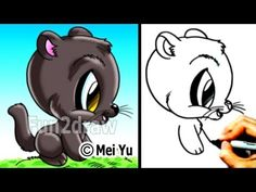 fun2draw animals | how to draw cool cats how to draw a panther youtube 2 44 how to draw a ...