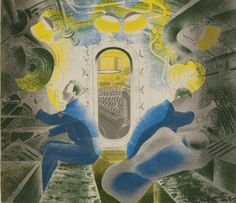 Eric Ravilious, Diving Controls No.1, 1941  themainstonepress.com | holeandcornermagazine.com