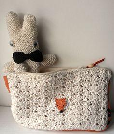 abanico crochet estuche