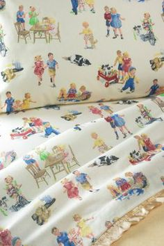 Dick and Jane Sheets available at The Vermont Country Store