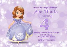 Sofia the First Birthday Party Invitation  by PrettyPaperPixels, $7.99