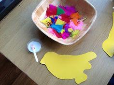 Pre-school Play- Bird theme.  Sensory, process art, cute activities