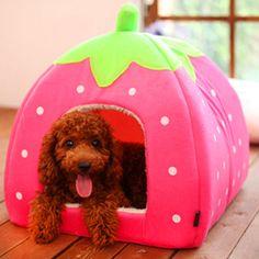 plegable fresa de la perrera cama del perro gato mascota de la casa sin gastos de envío
