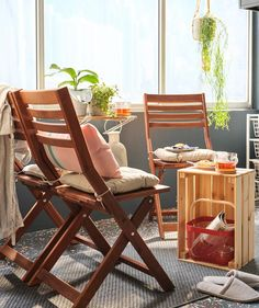 Combine storage, chores and comfort on your balcony - IKEA Outdoor Furniture Sets, Coffee Nook, Ikea Interior, Ikea, Outdoor Cushions, Flexible Furniture, Tuscan Bathroom, Folding Chair, Balcony