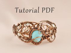 """Tutorial on making wire bracelet """"Leila"""" in English. Highly detailed and vivid lesson. More than 100 photos. PDF tutorial. 34$"""