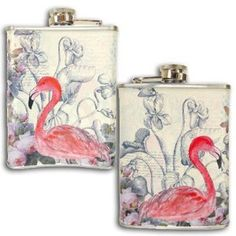 Disaster Designs The Aviary Flamingo Hip Flask: Amazon.co.uk: Kitchen & Home