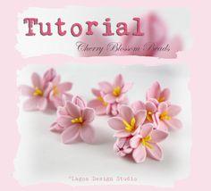 Lagoa Design Studio: TUTORIAL How to make polymer clay Sakura Cherry Blossom Beads