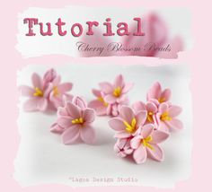 Lagoa Design Studio: TUTORIAL How to make polymer clay Sakura Cherry Blossom Beads