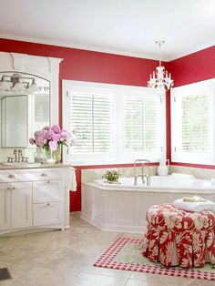 Like the corner tub and windows....nice lighting...