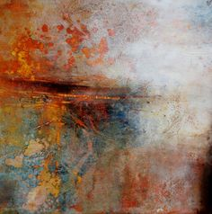 """Florentine Mist"" Oil/Mixed Media 12x12 Lisa B. Boardwine"