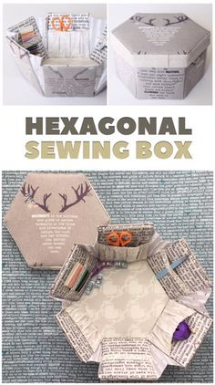 Make your own Hexagonal Sewing Box - pattern link inside